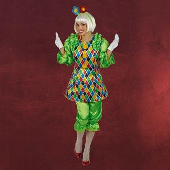 Clownette - Damenkostüm