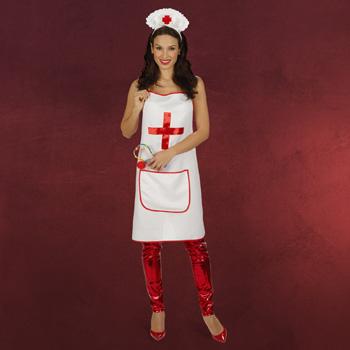 Krankenschwester - Schürze mit Tasche