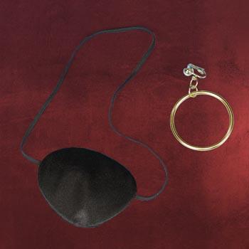 Piratenset - Augenklappe und Ohrclip