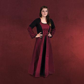 Elena Mittelalter Kleid bordeaux-schwarz