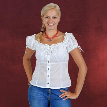 Dirndl-Bluse Carmen, Trachtenbluse wei�