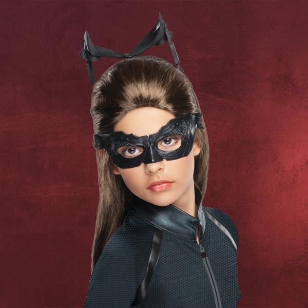 catwoman per cke f r kinder batman the dark knight rises langhaar per cke braun. Black Bedroom Furniture Sets. Home Design Ideas
