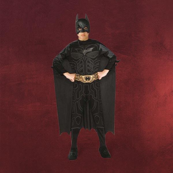 batman dark knight rises kost m set kinder 3 teilig overall umhang maske gr 116 ebay. Black Bedroom Furniture Sets. Home Design Ideas