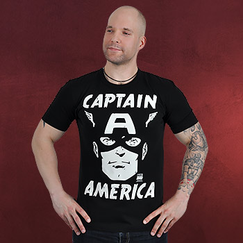 Captain America - Portrait T-Shirt