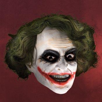 Batman - Joker Maske mit Haaren f�r Erwachsene