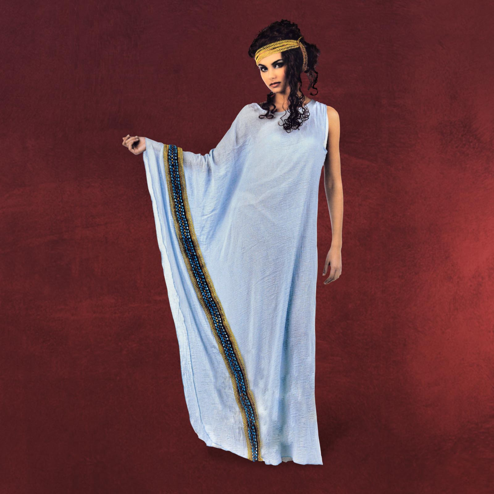 griechisches kleid damen kost m antik mit zierborte. Black Bedroom Furniture Sets. Home Design Ideas