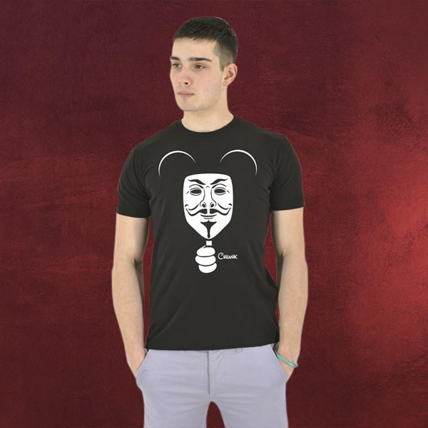 mickey mouse anonymous t shirt elbenwald. Black Bedroom Furniture Sets. Home Design Ideas