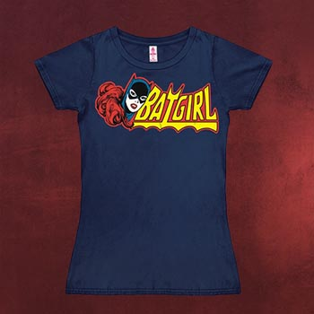 Batman - Batgirl Girlie Shirt navy