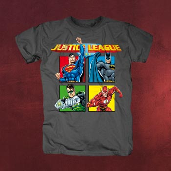 Justice League - Squares T-Shirt
