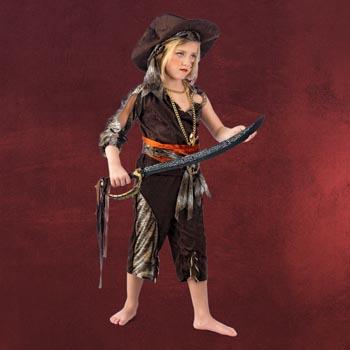 Kleine Piratin - Kinderkostüm