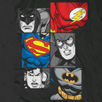 Justice League - Batman, Flash, Superman at Work T-Shirt