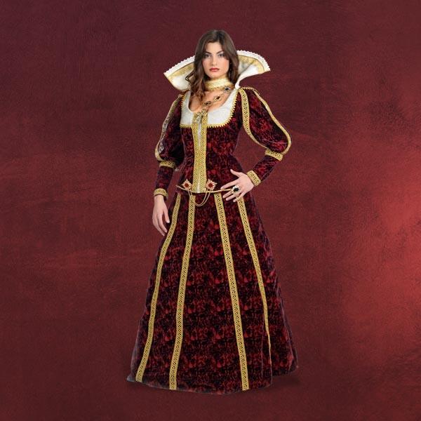 Lukrezia-Femmes Costume renaissance robe FRANGES robe femmes Carnaval ...