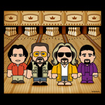 Big Lebowski - Bowlingabend Cartoon T-Shirt