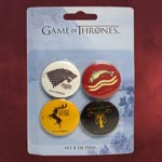 Game of Thrones - Pin-Set Stark, Baratheon, Greyjoy, Tully