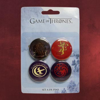 Game of Thrones - Pin-Set Targaryen, Lannister, Arryn, Game of Thrones Logo