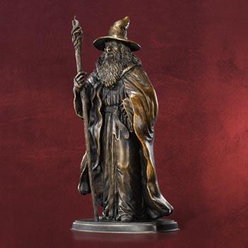 Der Hobbit - Gandalf Bronzeskulptur