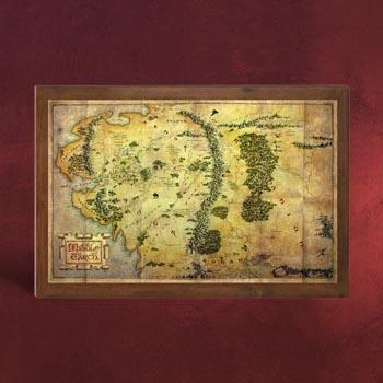 Der Hobbit - Die Karte von Mittelerde