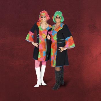 Hippie-Kleid mit Stirnband - Damenkost�m