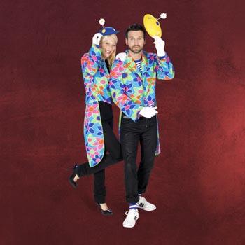 Clown-Frack mit Blumenmuster