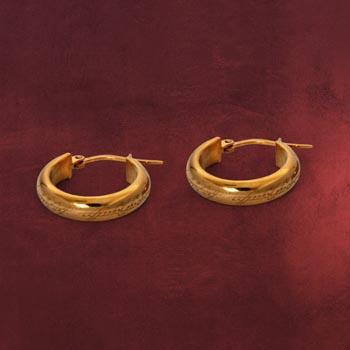 Herr der Ringe - Der Eine Ring Ohrringe, Gold