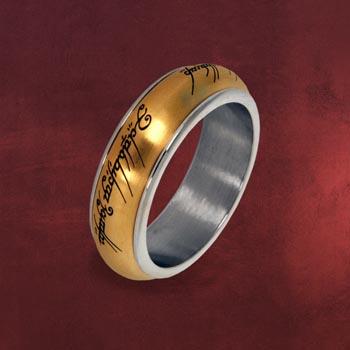 Der Eine Ring - Rotierend, im Schmuckdisplay, gold
