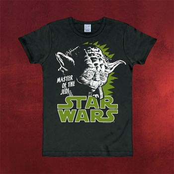 Star Wars - Yoda T-Shirt schwarz
