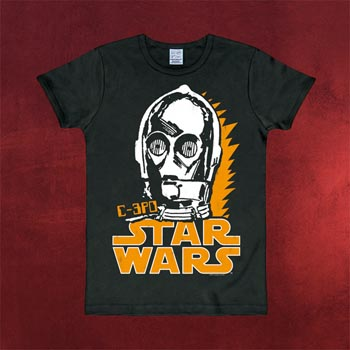 Star Wars - C-3PO T-Shirt schwarz