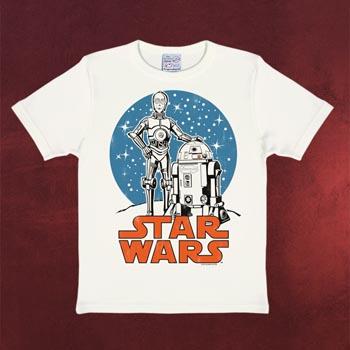 Star Wars - Droiden T-Shirt weiß