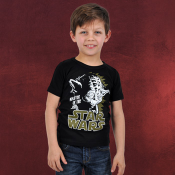 Star Wars - Yoda Kinder T-Shirt schwarz