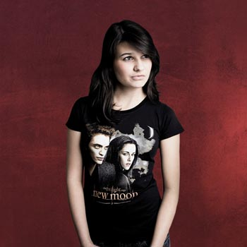Twilight New Moon - Girlie Shirt Moonlight Sky