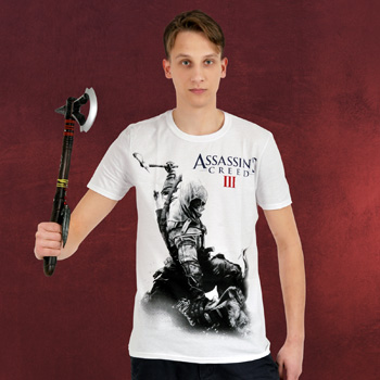 Assassins Creed III - Connor Kenway T-Shirt wei�