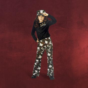 Army Girl Star Kost�m - Kinderkost�m
