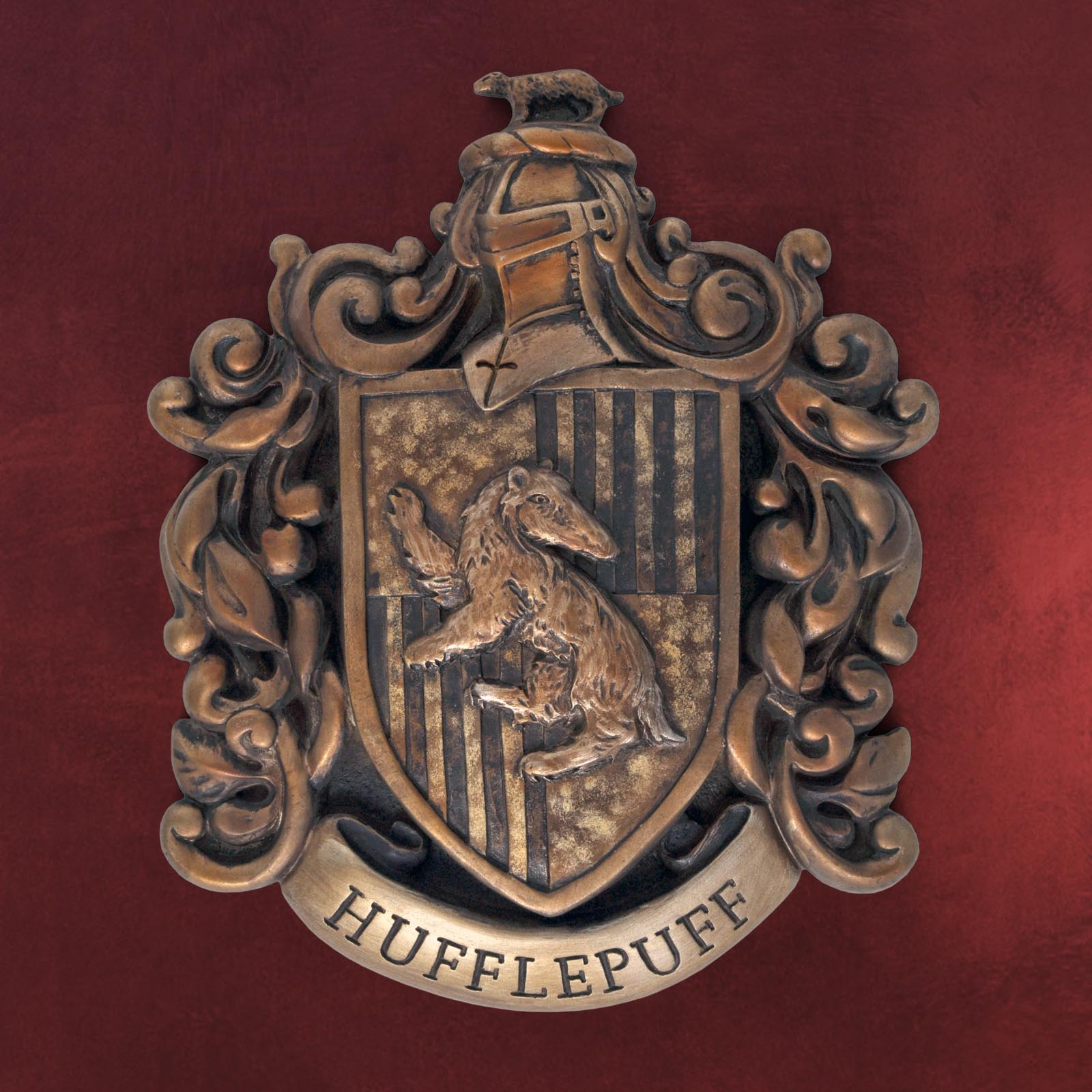 harry potter hufflepuff wappen wandbild deko f r hogwarts fans ebay. Black Bedroom Furniture Sets. Home Design Ideas