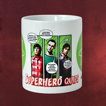 The Big Bang Theory - Superhero Quips Tasse