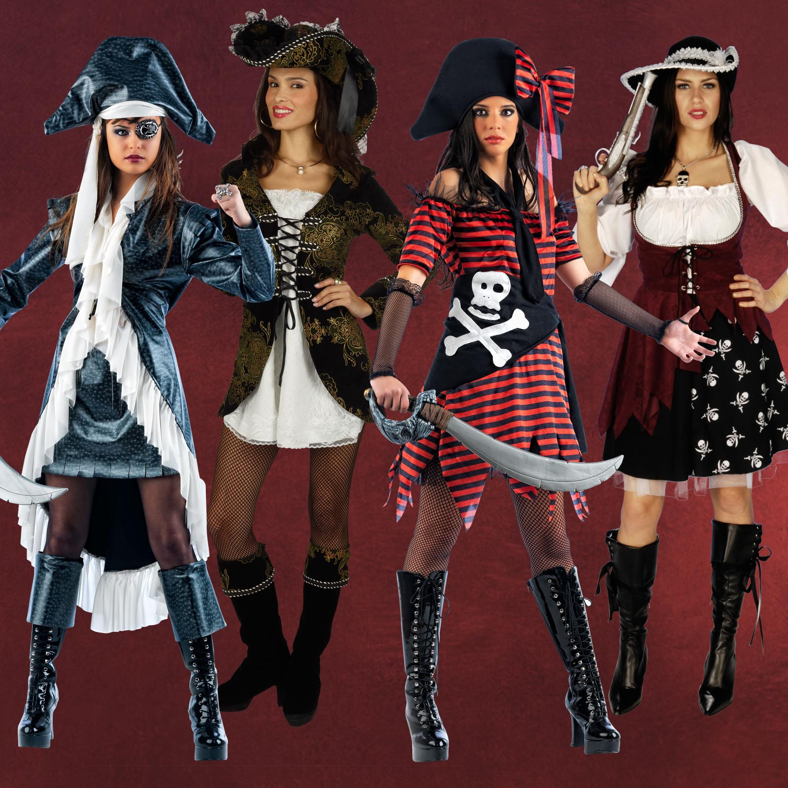 sexy piratin kost m dame fasching karneval karibik. Black Bedroom Furniture Sets. Home Design Ideas