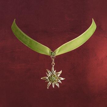 Edelweiss Samt Collier, grün