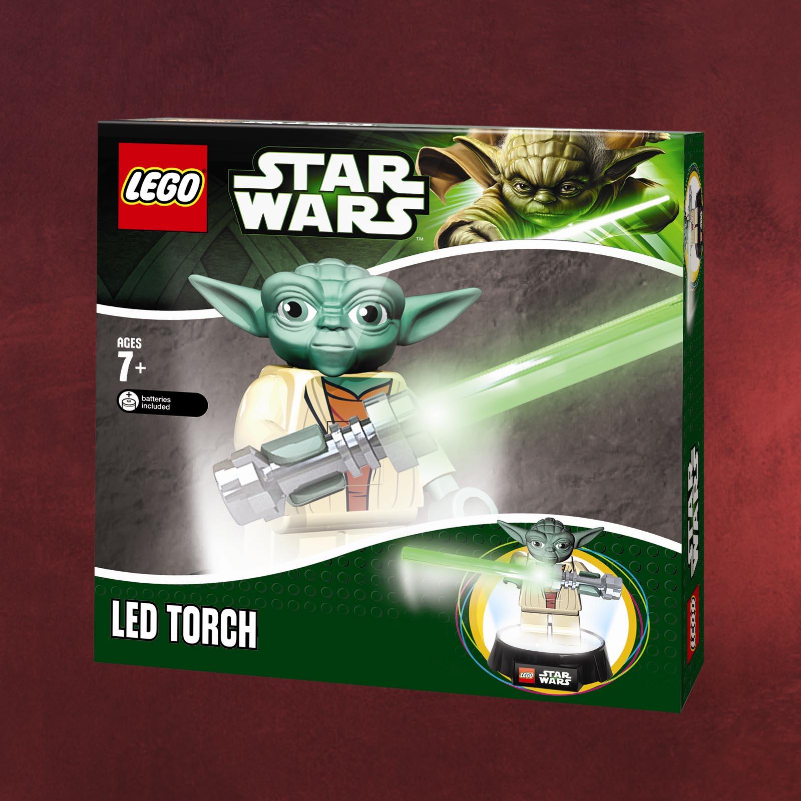 lego star wars yoda tischlampe taschenlampe mit lichtschwert usb jedi geschenk. Black Bedroom Furniture Sets. Home Design Ideas
