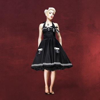 Rockabilly-Kleid Motley schwarz