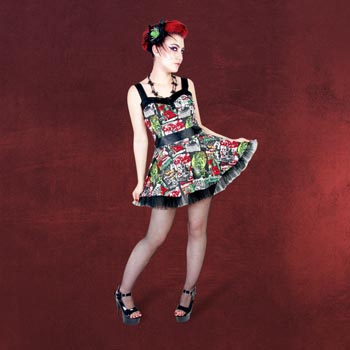 Rockabilly Mini-Kleid B-Movie