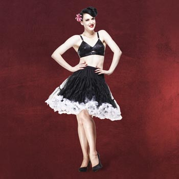 Petticoat Swing - schwarz-weiß