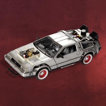 Zurück in die Zukunft III - DeLorean Zeitmaschine Modell 1:24