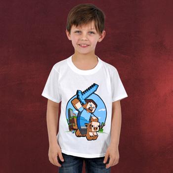 Minecraft - Pig Riding Kinder T-Shirt