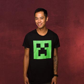 Minecraft - Creeper Glow in the Dark Face T-Shirt