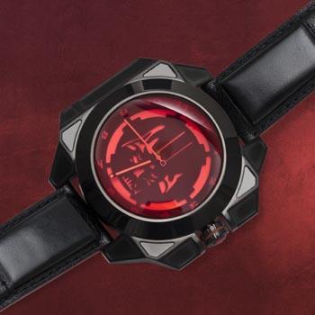 Star Wars - Darth Vader Sammleruhr mit Echtleder-Armband