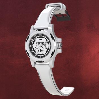 Star Wars - Stormtrooper Sammleruhr mit Echtleder-Armband