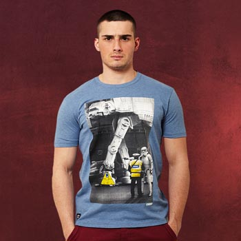 Star Wars - No Parking For AT-ATs T-Shirt blau