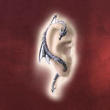 Gothic Drachen Ohrring