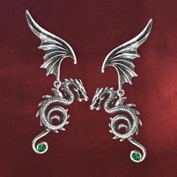 Gothic Drachen-Ohrringe