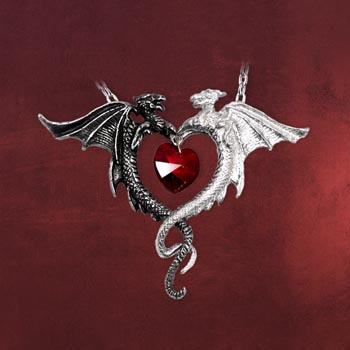 Gothic Kette Drachenherz