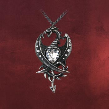 Gothic Kette Diamond Heart